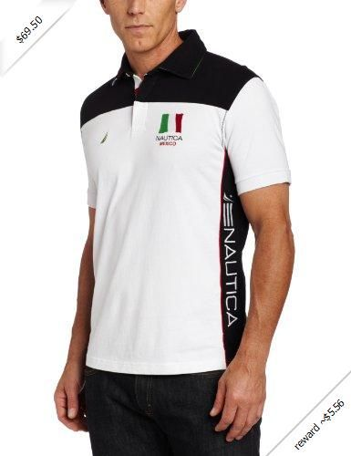 Nautica Men s Mexico Pieced Polo Shirt  b1b12dc5cf7ce