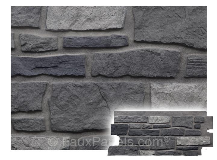 Nailon Ledgestone Plus Appalachian Ash Panel. Hardy faux stone ...