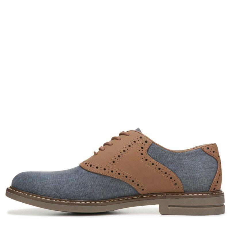 Izod Men's Conaway Saddle Oxford Shoes (Navy/Tan) - 12.0 M