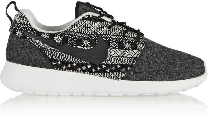 Nike Roshe One Winter Wool and Wool-Felt Sneakers
