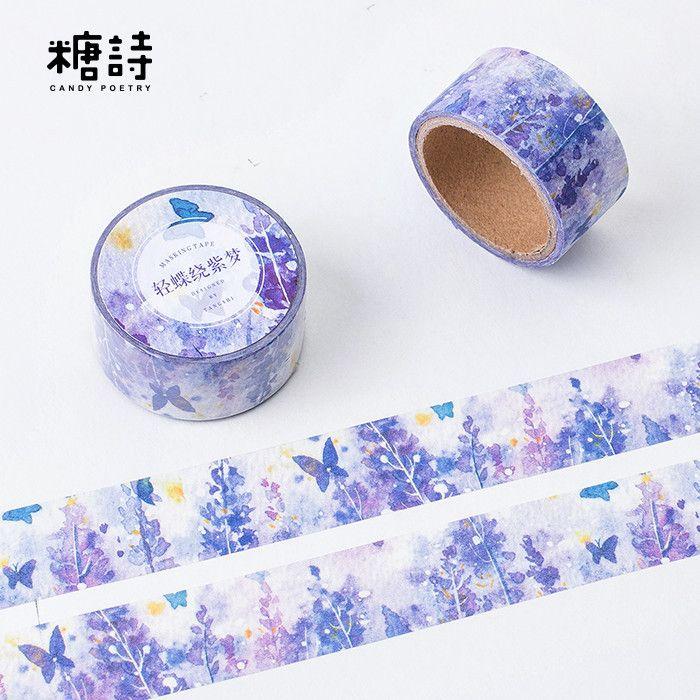 Scotch Decorative Masking Tape 1Pcs New Butterfly Around Beautiful Dream Washi Tape Decorative