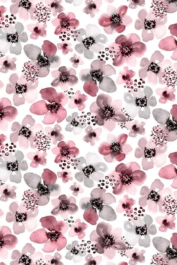 Colorful fabrics digitally printed by Spoonflower - Painted Berry Floral by Angel Gerardo