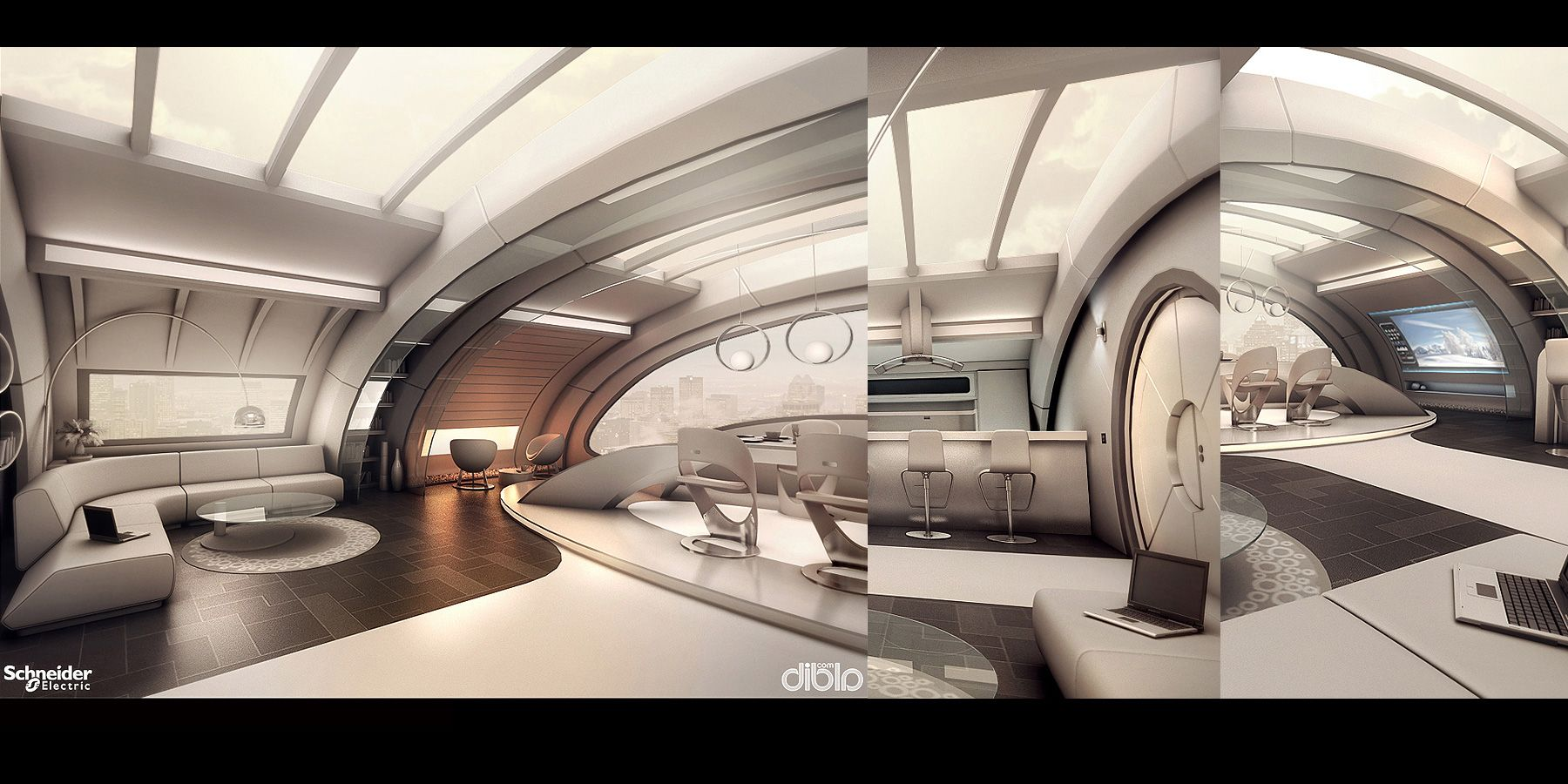 Modern Interior Design By E Enchev With Images Futuristic