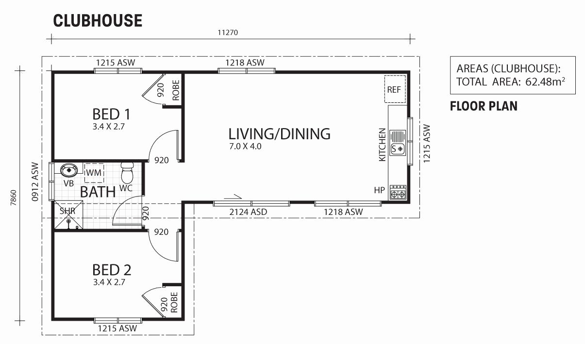 Granny Flat Floor Plans 2 Bedrooms New Clubhouse Two Bedroom Granny Flat Backyard Shacks Ranbuild Granny Pods Floor Plans Floor Plans Granny Pod