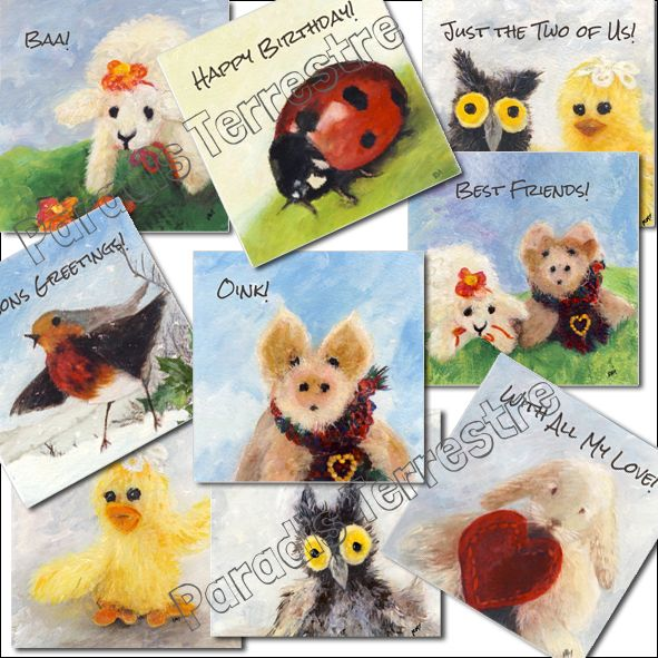 Cute creatures collection trade greetings cards uk wholesale cute creatures collection trade greetings cards uk m4hsunfo