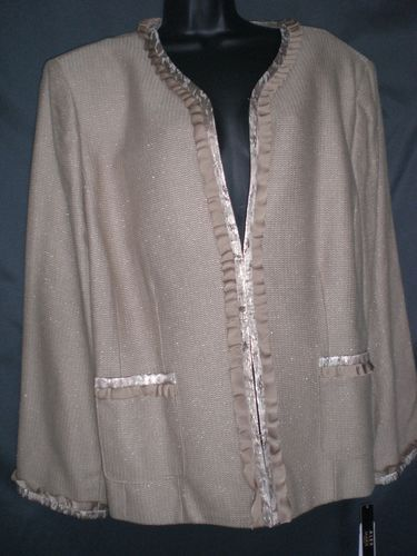 Alex Marie hila jacket latte plus size 24 W lined basic fall fashion metallic