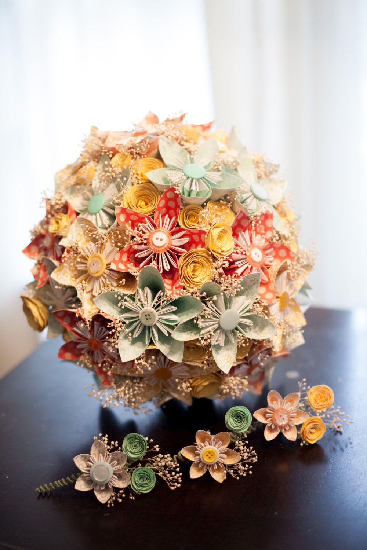 Wedding Bouquet - Paper Flower Wedding Bouquet. $125.00, via Etsy. I ...
