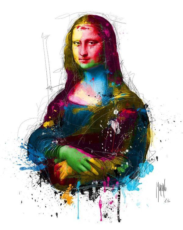 Murciano Colour Portraits Mona Lisa Pintura Oleo Abstracto Art Pop Arte Impresionista