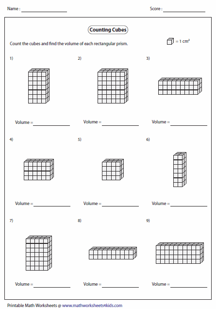 Volume of Rectangular Prism by Counting Cubes | Math | Pinterest ...