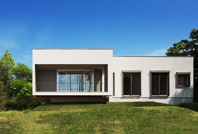 diseo de fachada y plano de moderna casa de un piso descubre como lo simple logra grandes resultados