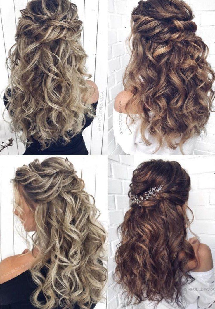 Wedding Hair For Bridesmaids Wedding Hair Curly Updo Bridesmaid Wedding Hair Wedding Hair Cu In 2020 Wedding Hair Down Hair Styles Wedding Hairstyles For Long Hair