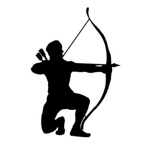Bow and arrow silhouette