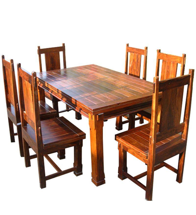 Tavola da pranzo legno massello di sheesham dt 122276 x for Tavola da pranzo in legno