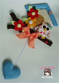 Sonhos de Mel 'ੴ - Crafts em feltro e tecido: °°Molde Corujinha...