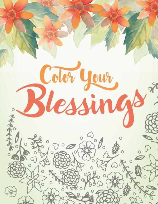 Coloring Book Bible Verses : Amazon.com: color your blessings: a christian coloring book for