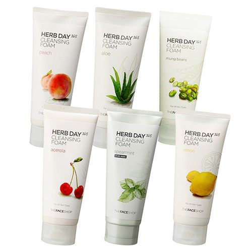 7 58 The Face Shop Herb Day 365 Cleansing Foam 6 Types Pick One Cleanser Korea Tfs Ebay Fashion With Images The Face Shop Cleanser And Toner Best Natural Skin Care