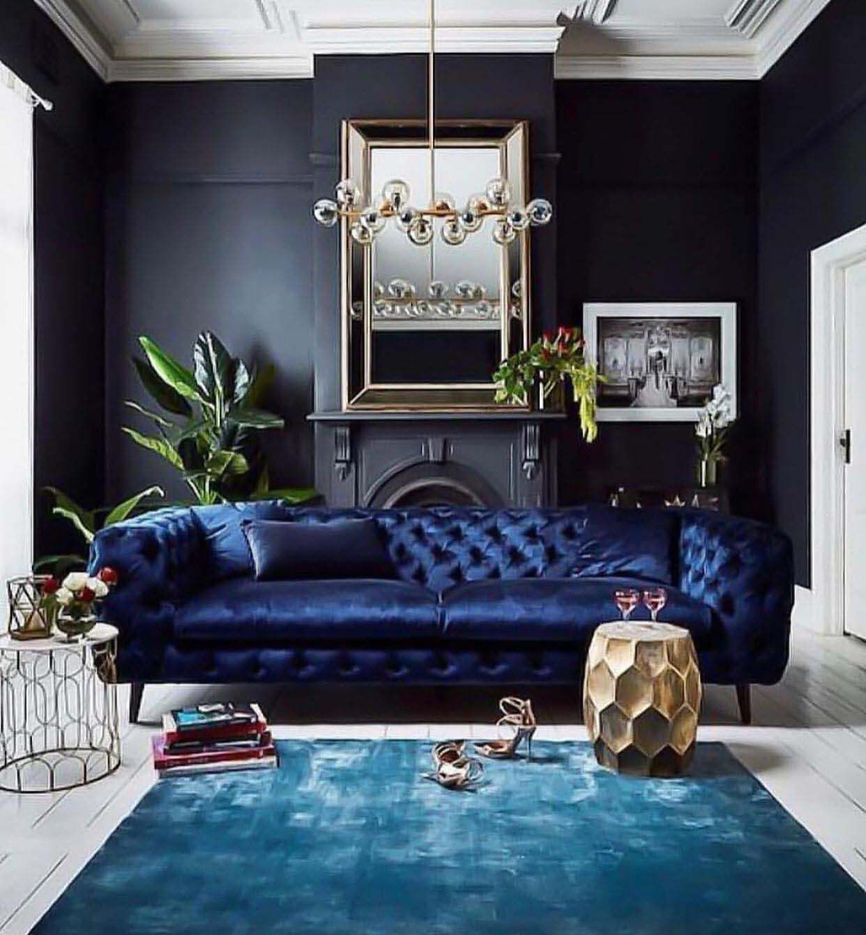 28 Wunderschöne Wohnzimmer Mit Schwarzen Wänden, Die Ein