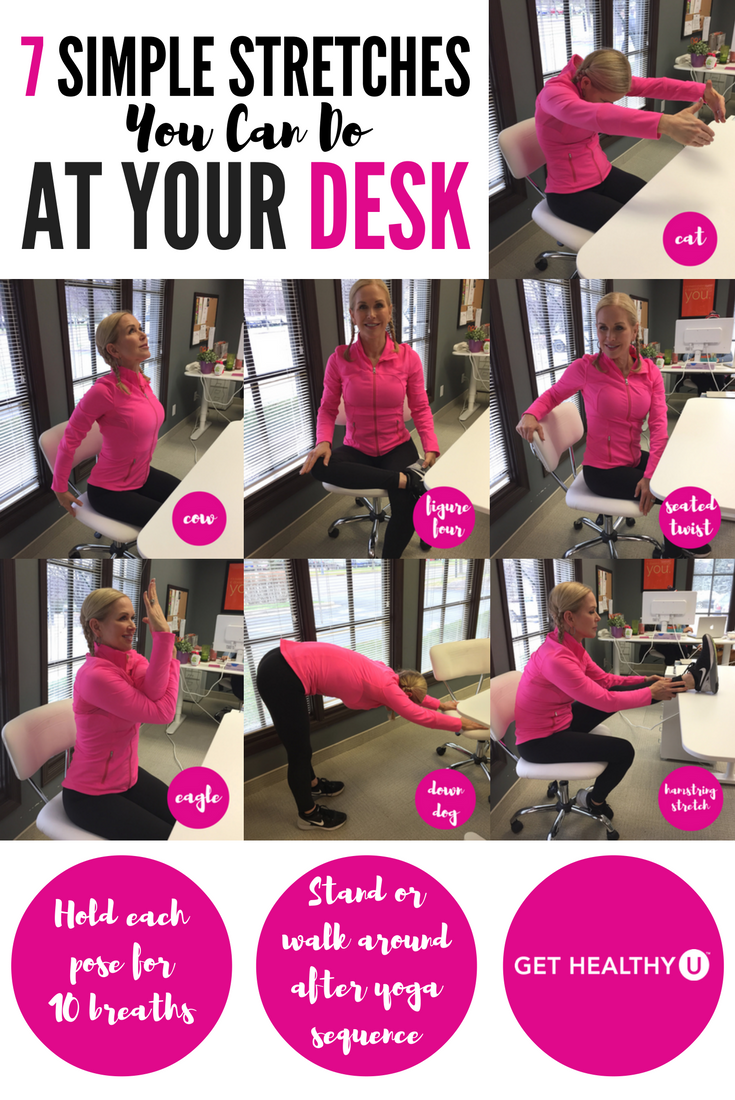 7 Simple Stretches You Can Do At Your Desk Flexibility Desk
