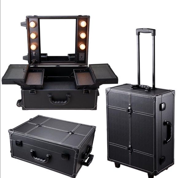 Vanity Suitcase With Lights Unique Professional Makeup Vanity Suitcase  Professional Makeup Makeup Design Decoration