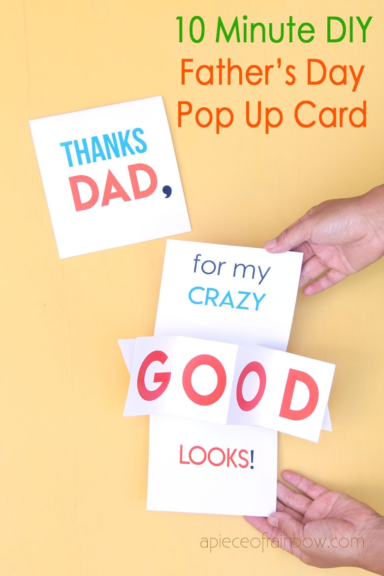 10 Minute Diy Pop Up Father S Day Card Birthday Card Love Pop Up Cards Father S Day Card Template Pop Up Card Templates