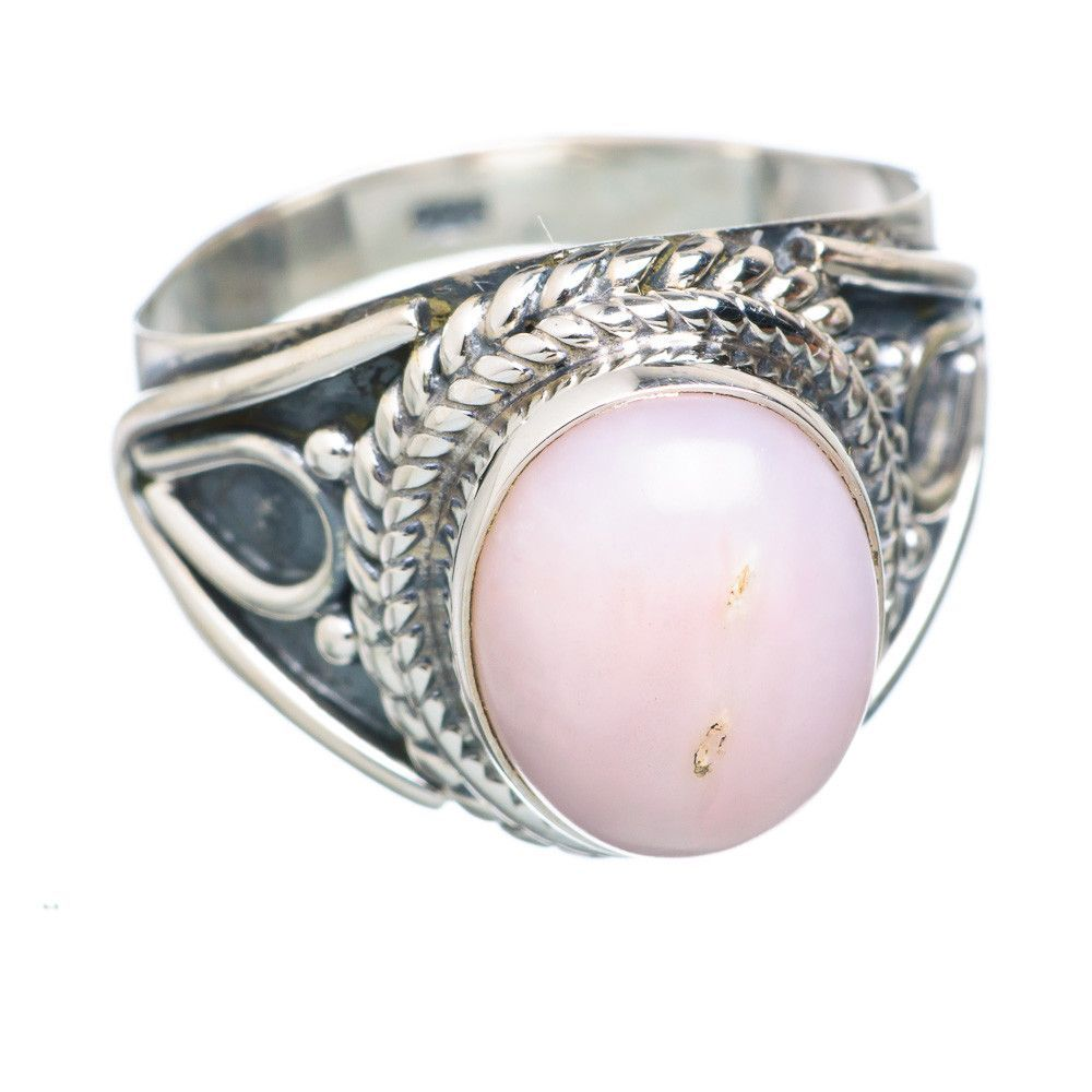 Pink Opal 925 Sterling Silver Ring Size 7.25 RING732294