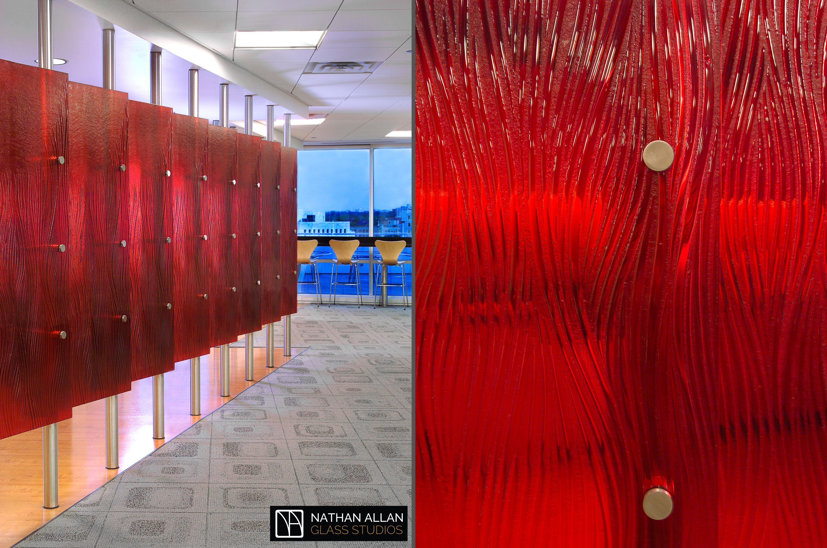 Denver News Agency Glass Dividers Glass Design Custom Glass