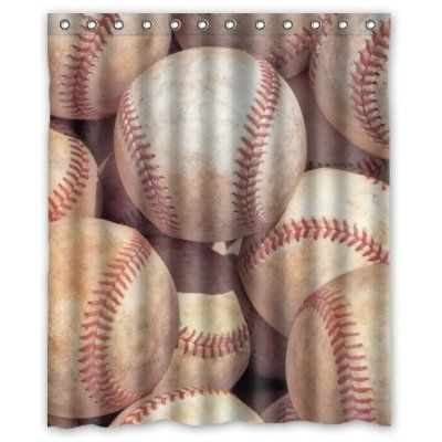 Special Custom Vintage Baseball Mildrew Resistant Shower Curtain