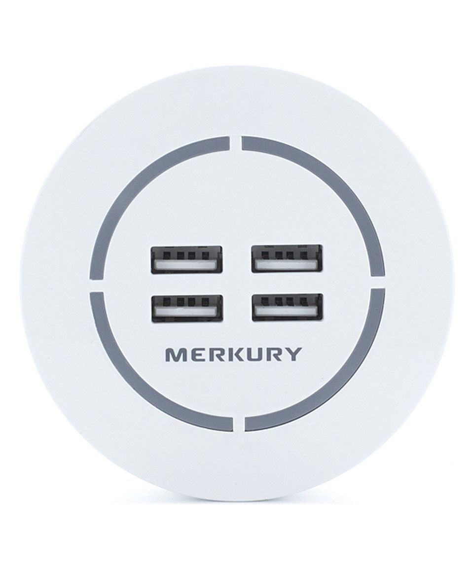 White Four-Port USB Charger By Merkury Innovations #zulily