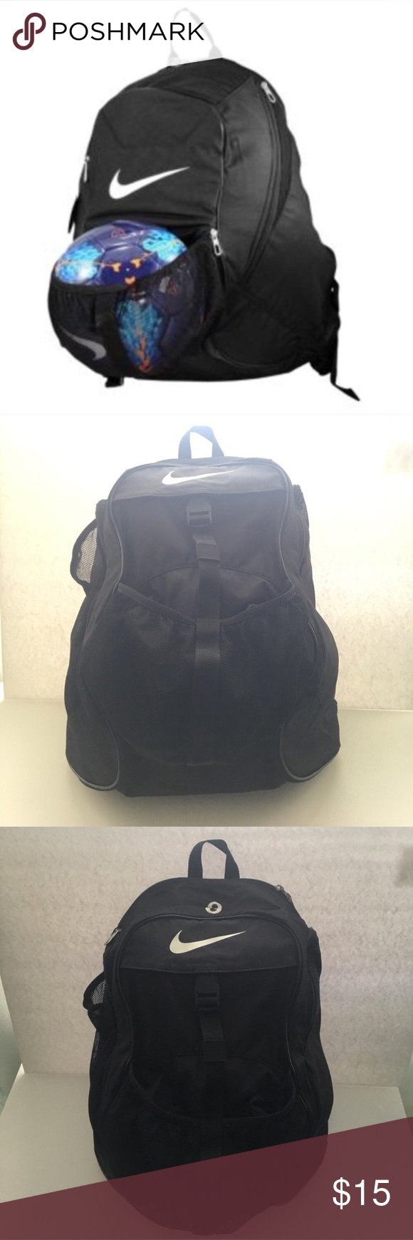 8503d0aff4 Black Nike Soccer Backpack Black Nike Soccer  Basketball  Volleyball  Backpack