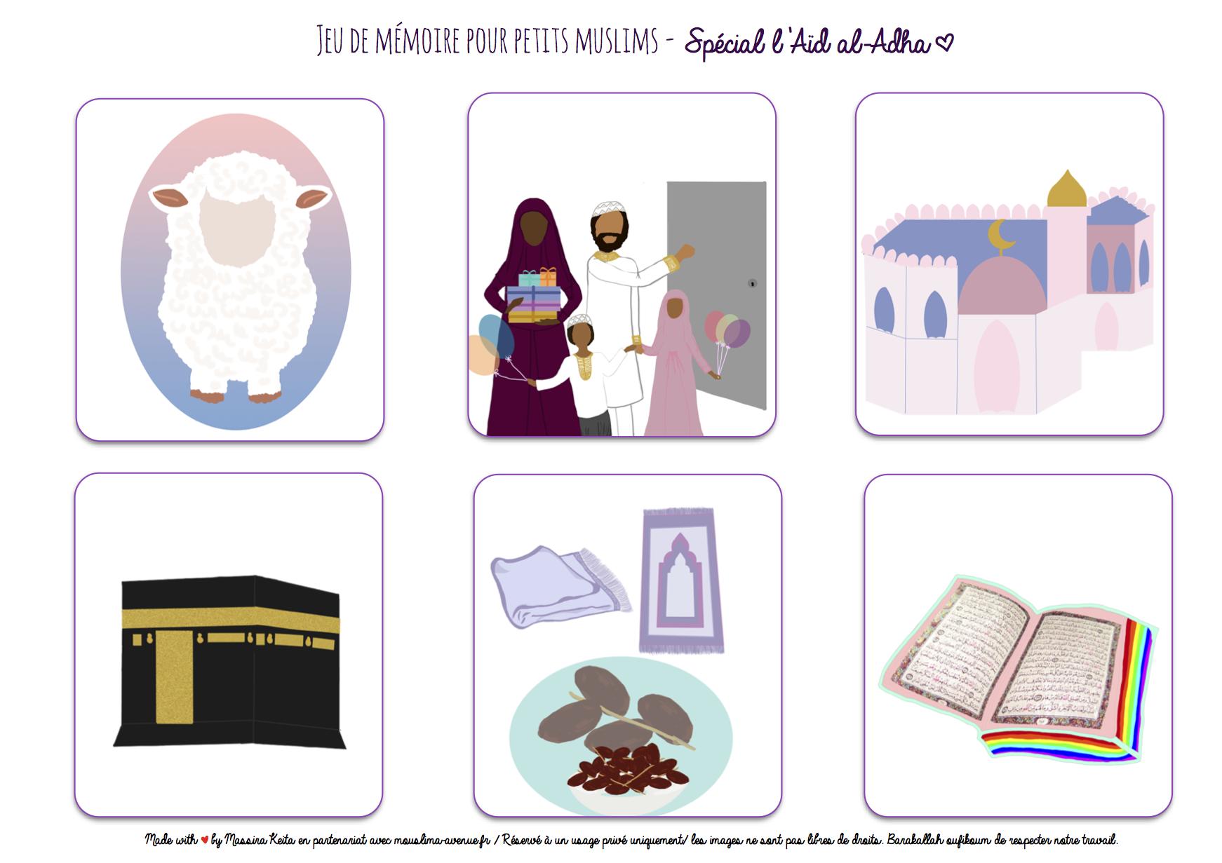 Jeu de m moire pour petits muslims imprimer free printable for muslim kids sp cial eid al - Jeux memoire a imprimer ...