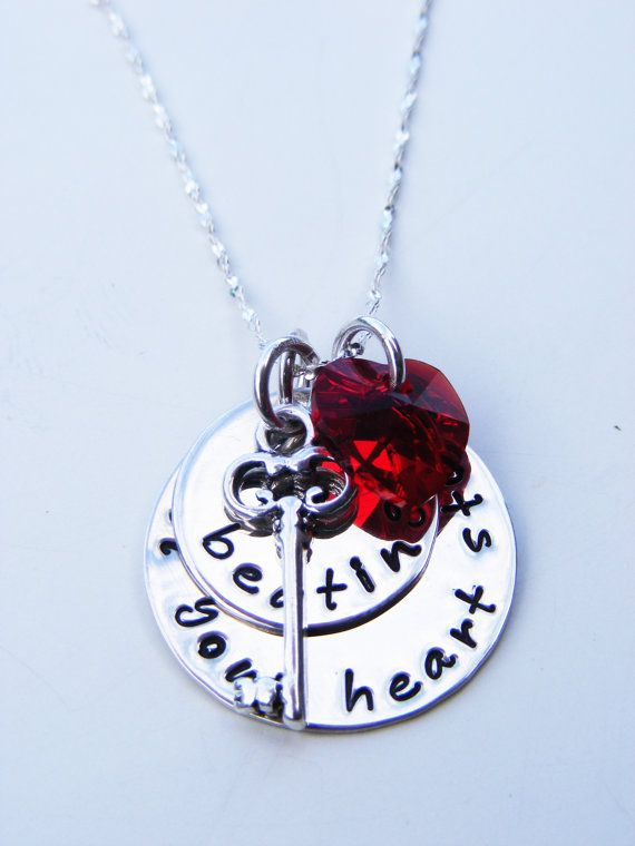"Twilight inspired Sterling Sliver hand stamped necklace.  ""Till your heart stops beating.""  Via Etsy $48.00"