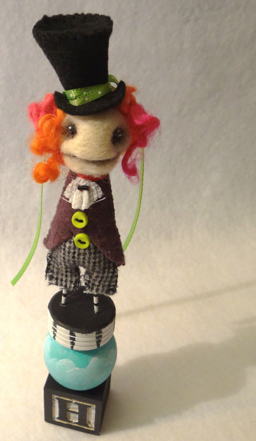 Mad Hatter Needle Felted Art Doll. (With images) Art