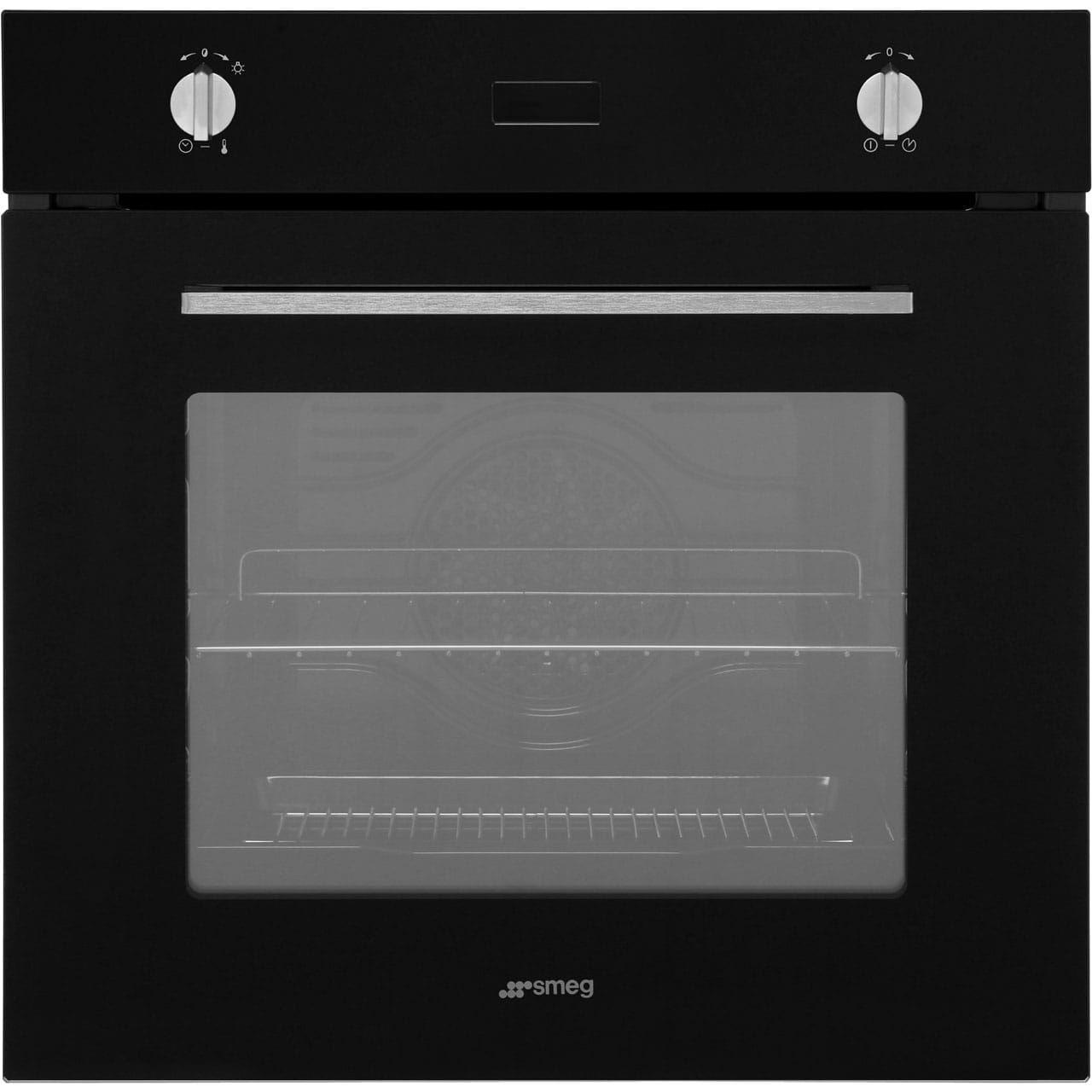 Black Built In Oven Part - 49: Smeg Cucina SFP485N Built In Electric Single Oven - Black