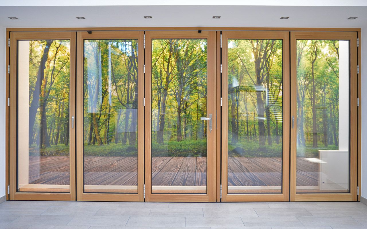 Solarlux SL 78 wooden accordion doors and windows