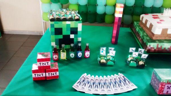 Letras Minegraft Fazendo A Nossa Festa: Festa Minecraft Da Leitora Ro!