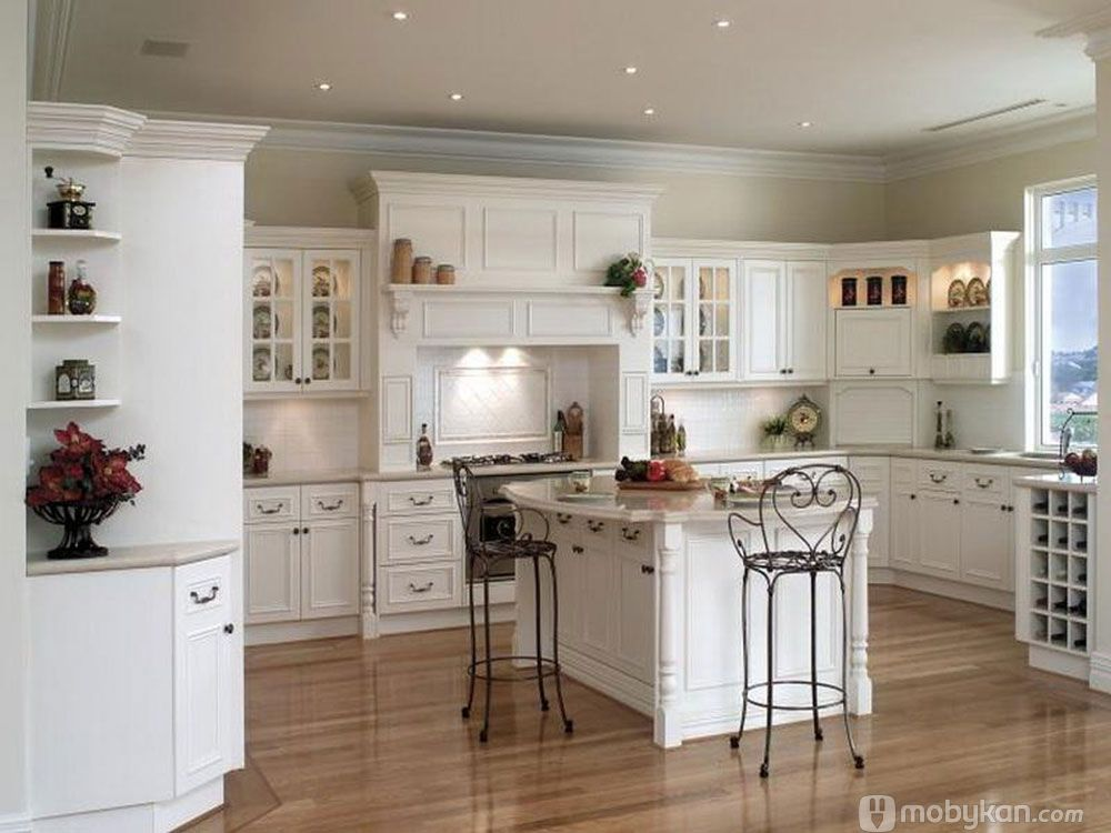 صور مطابخ حديثه و اشكال مطابخ مودرن و مميزه من موبيكان Interior Design Kitchen Country Kitchen Designs Country Chic Kitchen