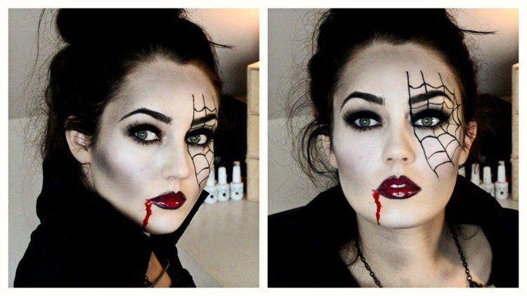 maquillage femme halloween id es derni re minute femme vampire maquillage femme et id es de. Black Bedroom Furniture Sets. Home Design Ideas