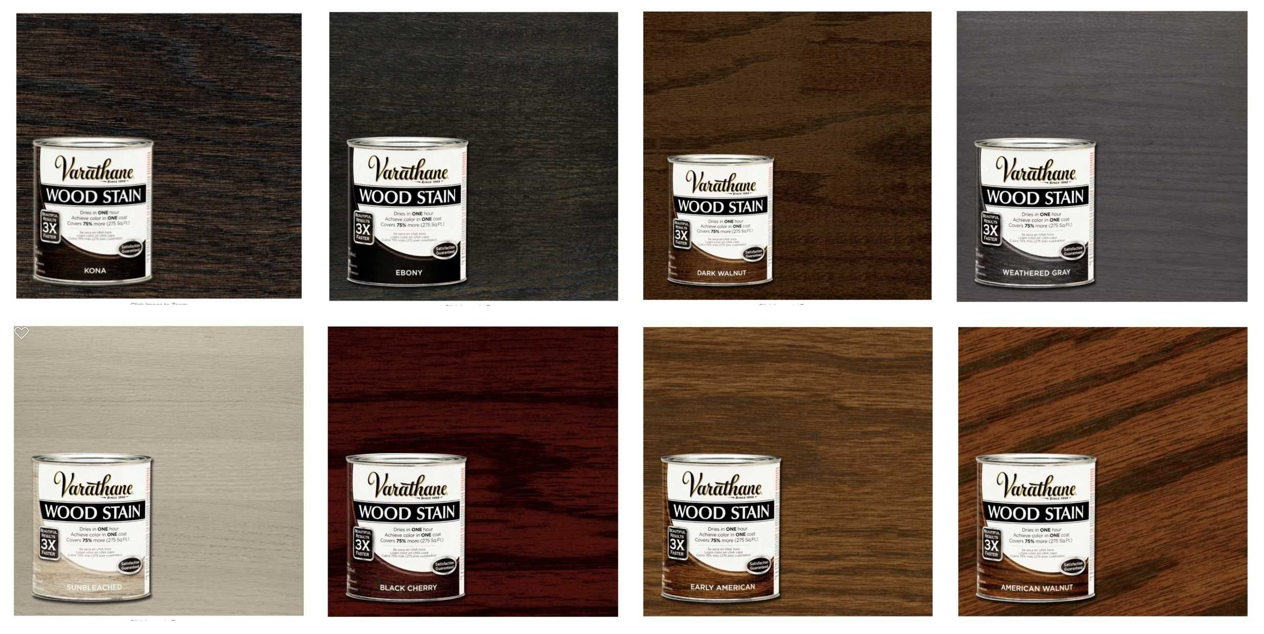 Varthane® Wood Stain Color Chart / Swatch - Hardwood Flooring Colors ...