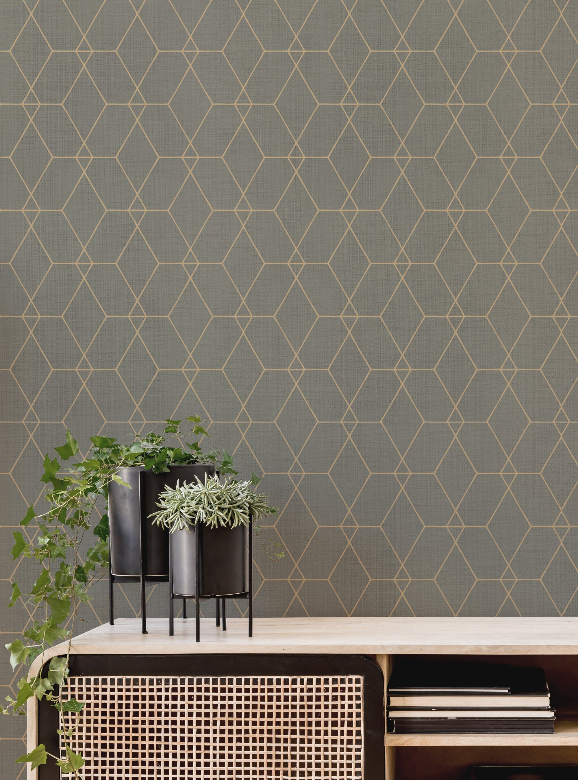 Tree Leaves Wallpaper Simple Shapes Removable Peel And Stick Etsy Tree Leaf Wallpaper Leaf Wallpaper Diy Wallpaper