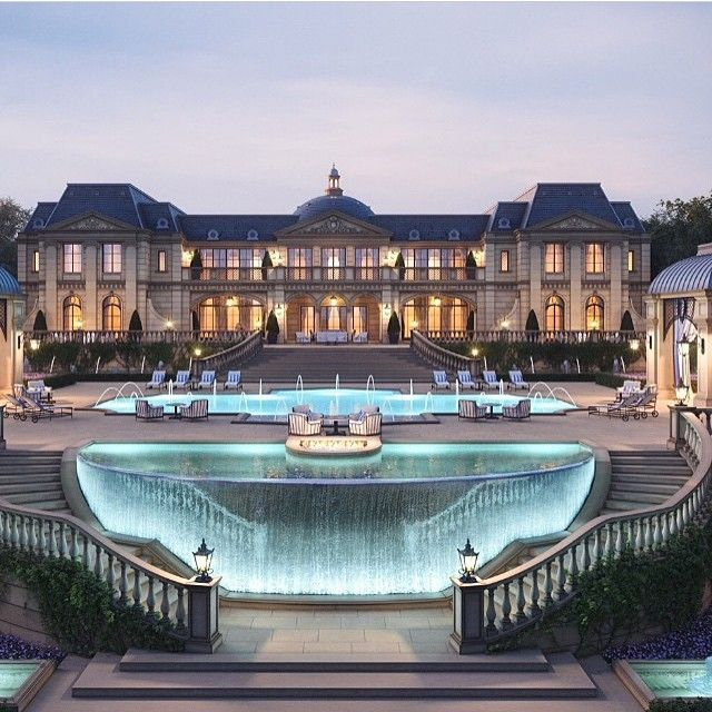 Luxury Mansions With Swimming Pools: What An Incredible And Unique Pool Design. Million Dollar