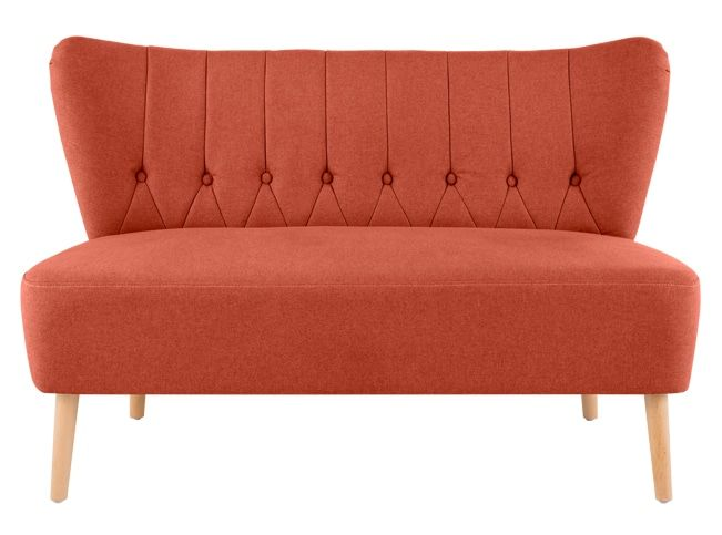 Pleasing Made Retro Orange Sofa In 2019 Small Sofa 2 Seater Sofa Machost Co Dining Chair Design Ideas Machostcouk