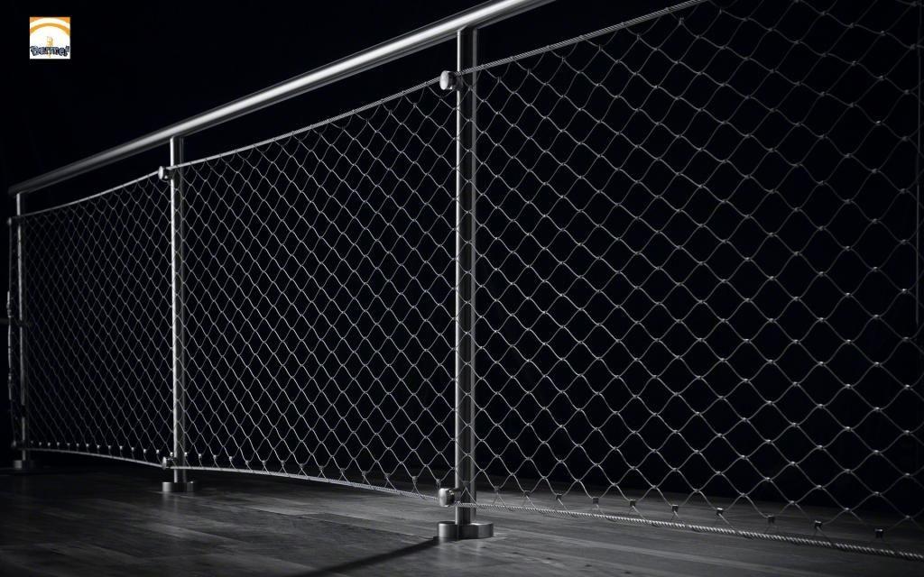 Barandilla de malla de inoxidable network obras referencias barandas pasamanos y mallas - Vallas de acero inoxidable ...