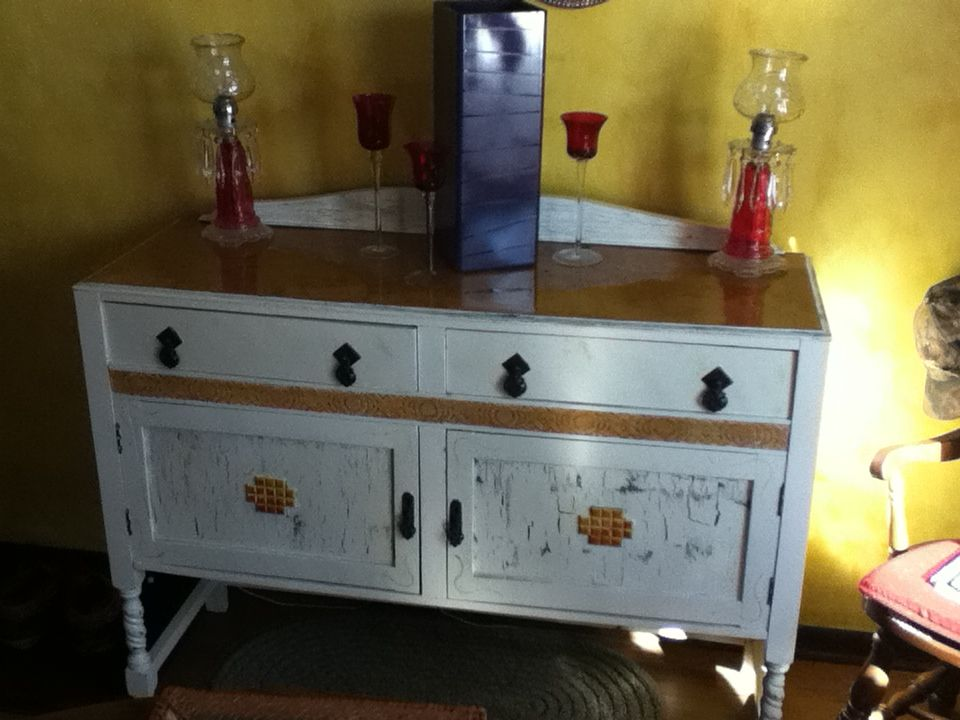 Superb My Refurbished Buffet, Antique White Paint With Some Crackle Finish, A  Little Distressing,