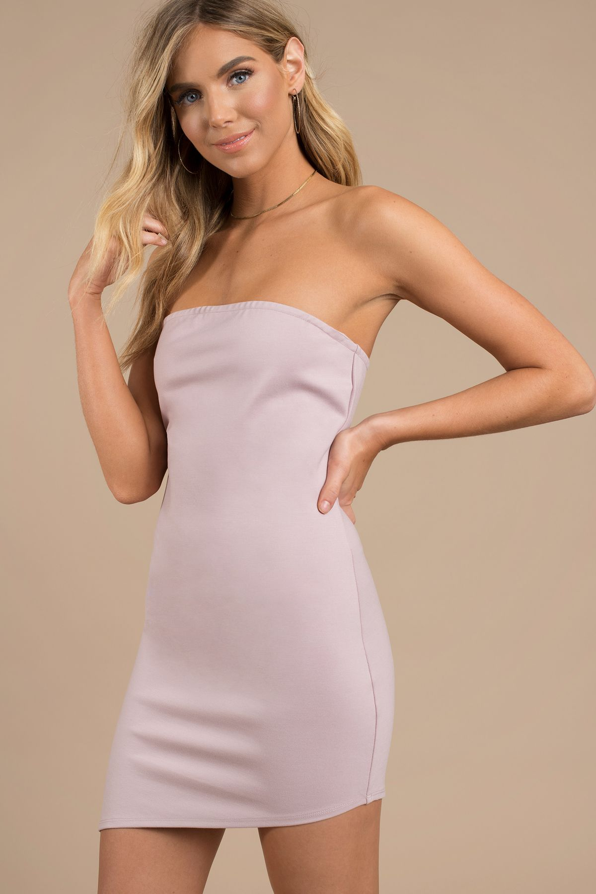 Side To Side Strapless Bodycon Dress In Mauve In 2021 Strapless Bodycon Dress Purple Bodycon Dresses Lace Up Bodycon Dress [ 1800 x 1200 Pixel ]