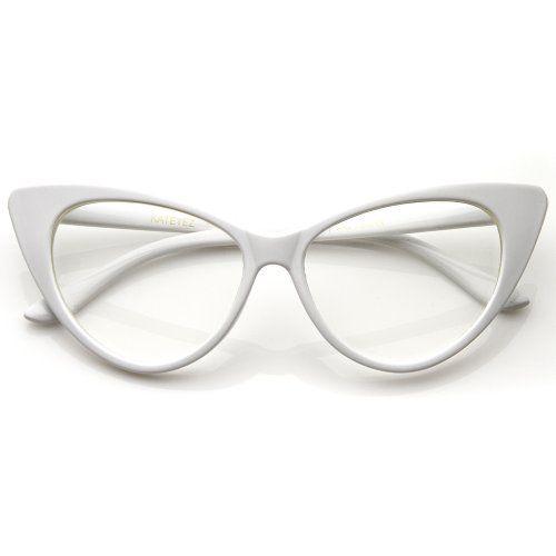 fb1f6e93ef Super Cat Eye Glasses Vintage Inspired Mod Fashion Clear Lens Eyewear  Unknown