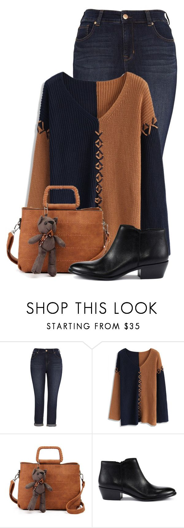 """""""Untitled #20183"""" by nanette-253 ❤ liked on Polyvore featuring Melissa McCarthy Seven7, Chicwish and Sam Edelman"""