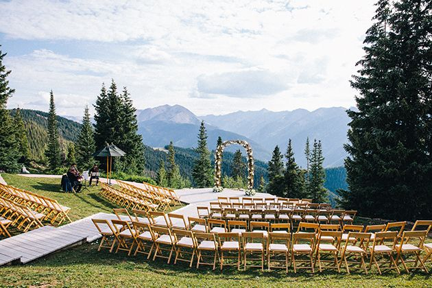 Mountaintop Wedding Ceremony At The Little Nell In Aspen