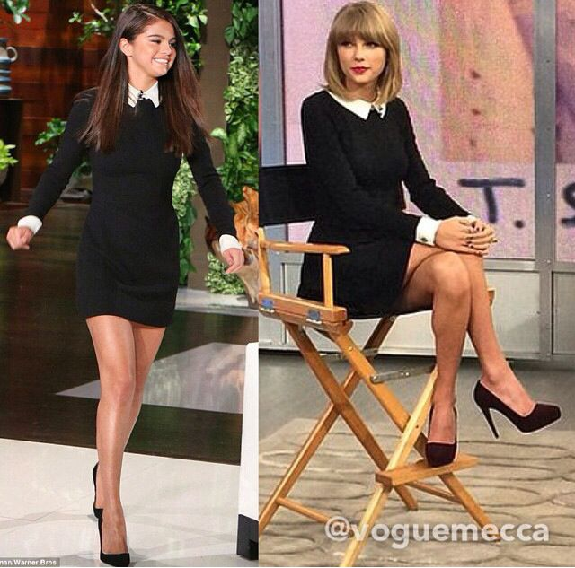 Who Wore Best Selena Gomez Or Taylor Swift White Short Dress Dresses Outfits