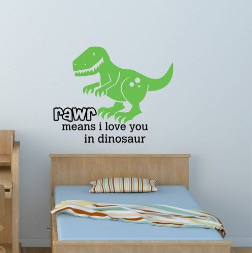 Rawr Means I Love You In Dinosaur Vinyl Wall Decal DecorDesigns - Custom vinyl wall decals dinosaur
