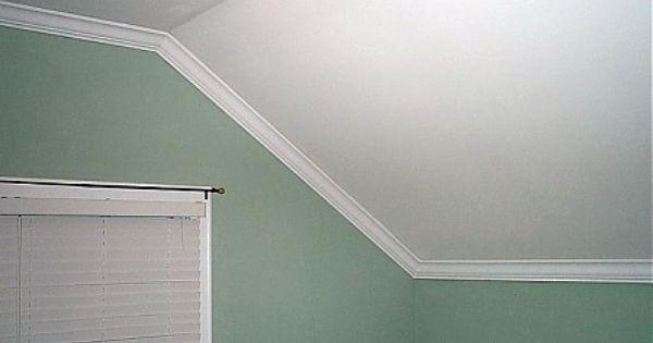 Trim For Slanted Walls Meeting The Ceiling Google Search Zierleiste Wand Wohnzimmer Umgestalten Schrage Wande